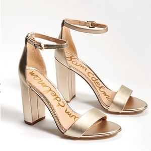 Sam Edelman Daniella Gold Heeled Sandal 10M